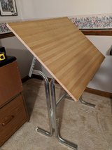 Small Drafting/Drawing Table with Tilt Top in Lockport, Illinois