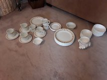 Set of 79 pieces Corelle butterfly gold dishes in Bartlett, Illinois