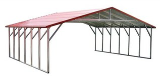 30x21x6 Boxed Eave Carport in Fort Polk, Louisiana