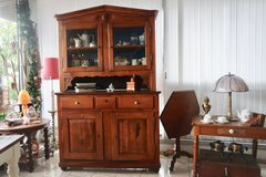 rare Biedermeier cherry wood dining room hutch from a local Abbey in Hohenfels, Germany