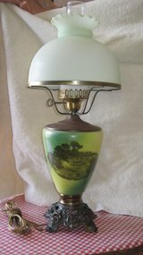 24 Inch Tall Hurricane Parlor Lamp. in Alamogordo, New Mexico