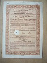 1935 Conversion Fund (Bond) for German Foreign Debt in Mannheim, GE