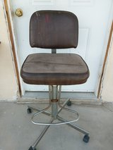 antique barber chair in 29 Palms, California