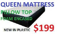 QUEEN PILLOW TOP MATTRESS FOAM INCASED NEW IN PLASTIC in Camp Lejeune, North Carolina