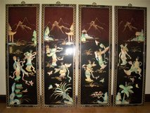 "Lot Of 4 Oriental Mother Of Pearl Wall Decors - 36"" x 12"" in Moody AFB, Georgia"