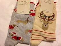 New: 2 pairs of Fat Face Christmas socks in Lakenheath, UK