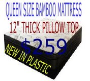 "QUEEN 12"" BAMBOO MATTRESS NEW!!!! in Camp Lejeune, North Carolina"