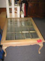 NICE LEAD GLASS COFFEE TABLE in Yucca Valley, California