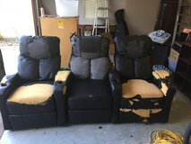 Free powered reclining home theater chairs--need recovering in Kingwood, Texas