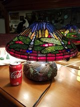 Antique Clock, Antique Advertising Container, Tiffany Style Dragonfly Lamp in Camp Lejeune, North Carolina