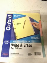 Write & Erase Tab Dividers in St. Charles, Illinois
