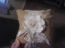 Wedding burlap ring pillow in Pearland, Texas