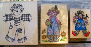 RUBBER STAMPS, 3 SCARECROWS, Vintage, Assorted Sizes in Alamogordo, New Mexico