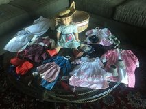 American Girl Doll - Kirsten, 8 outfits, travel basket, luggage and fabulous  accessories in Beaufort, South Carolina