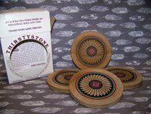 Vintage 1990s Coasters, Real Sandstone, Thirstystone®, SW Design in Alamogordo, New Mexico
