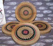 COASTERS, Southwest Design, Real Sandstone, Vintage 1990s Thirstystone® in Alamogordo, New Mexico