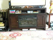 REDUCED Entertainment Center with Electric Fireplace in Warner Robins, Georgia