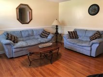 Microfiber Couch and Loveseat with Pillows in Hopkinsville, Kentucky