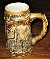 """1981 Handcrafted Budweister """"Chicagoland Starts Here"""" Ceramarte Limited Edition Beer Stein in Palatine, Illinois"""