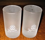 Two (2) Jagermeister 2-4cl Frosted Shot Glasses in Chicago, Illinois