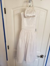 Brand New Girls 7 White Dress with purse bag in Clarksville, Tennessee