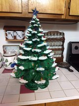 Vintage Ceramic Christmas Tree with music box in Warner Robins, Georgia