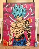 Hand painted 3'x4' dragon ball z painting in Vista, California