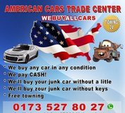 we buy any car in any condition-Free towing in Ramstein, Germany