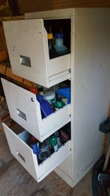 file cabinet with stains, oil and misc, smoker in Fort Leonard Wood, Missouri