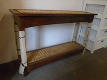 Wicker console/hall table ex display in Lakenheath, UK
