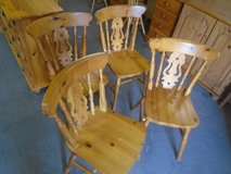 Pine dining chairs x 4 in Lakenheath, UK