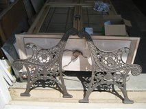 CAST IRON BENCH ENDS in Yucca Valley, California