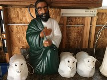 "Shepard 28"" & 3 Sheep Blow Molds (Christmas) in Tinley Park, Illinois"