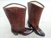 Woman's cowgirl boots in Camp Pendleton, California