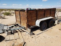 Wood sided trailer on steel frame 2 axle in 29 Palms, California
