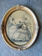Vintage Framed Print from Le Bon Ton, Journal des Modes (Paris) in Naperville, Illinois