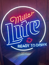 Miller Lite Neon Beer Sign in Plainfield, Illinois