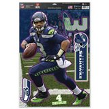 "RUSSELL WILSON 11"" x 17"" Multi-Use Decal Sheet Seattle Seahawks (Removable) *** NEW in Fort Lewis, Washington"