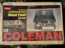 Coleman 2 Burner Powerhouse Dual Fuel Camping Stove in Oswego, Illinois