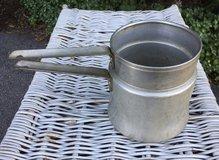 Vintage Aluminum Mirro Double Boiler Pot Camping Cookware 1 ½ qt, in Oswego, Illinois