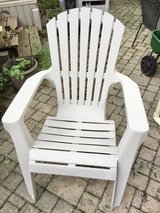 Off White Plastic Adirondack Chair in Chicago, Illinois