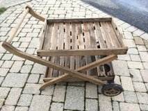 Rolling Wooden Patio Beverage Serving Cart in St. Charles, Illinois