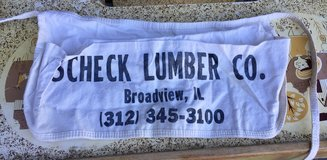 Scheck Lumber Co. Roofing Nail Pouch Tool Belt Apron Advertising in Plainfield, Illinois