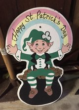 Wooden Happy St. Patrick's Day Sign in Joliet, Illinois