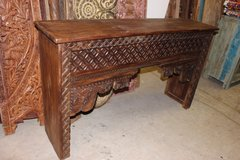 Antique Haveli Doors Teak Wood Media Console Reclaimed Farmhouse Furniture in Pearl Harbor, Hawaii