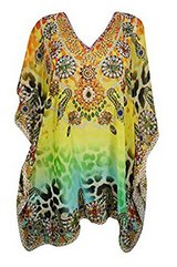 Womens Caftan Dress Cover Up Digital Printed Kimono Kaftan One Size in Guam, GU