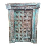 Antique Indian Carved Teak Double Doors in Guam, GU