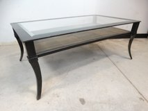 Black Metal & Stone Coffee Table in League City, Texas