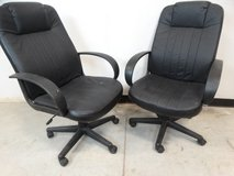 Pair of High Back Office Chairs Black in League City, Texas