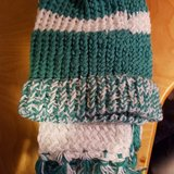 Loom knitted hat and scarf set in Tacoma, Washington